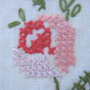 Пример вышивки крестиком