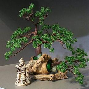 Бисероплетение. Мастер-класс по изготовлению дерева бонсай