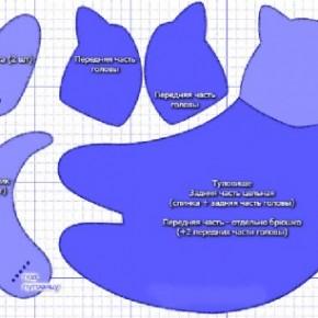 Игрушка Тильда. Мастер-класс по изготовлению летящего кота
