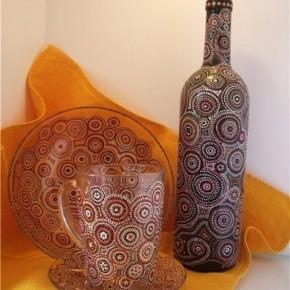 Ажурная роспись на посуде